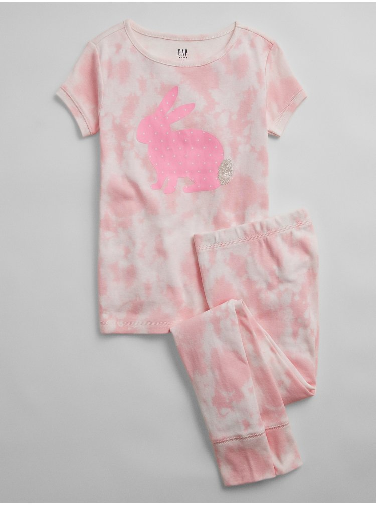 Růžové holčičí dětské pyžamo v-g bunny ss lj org
