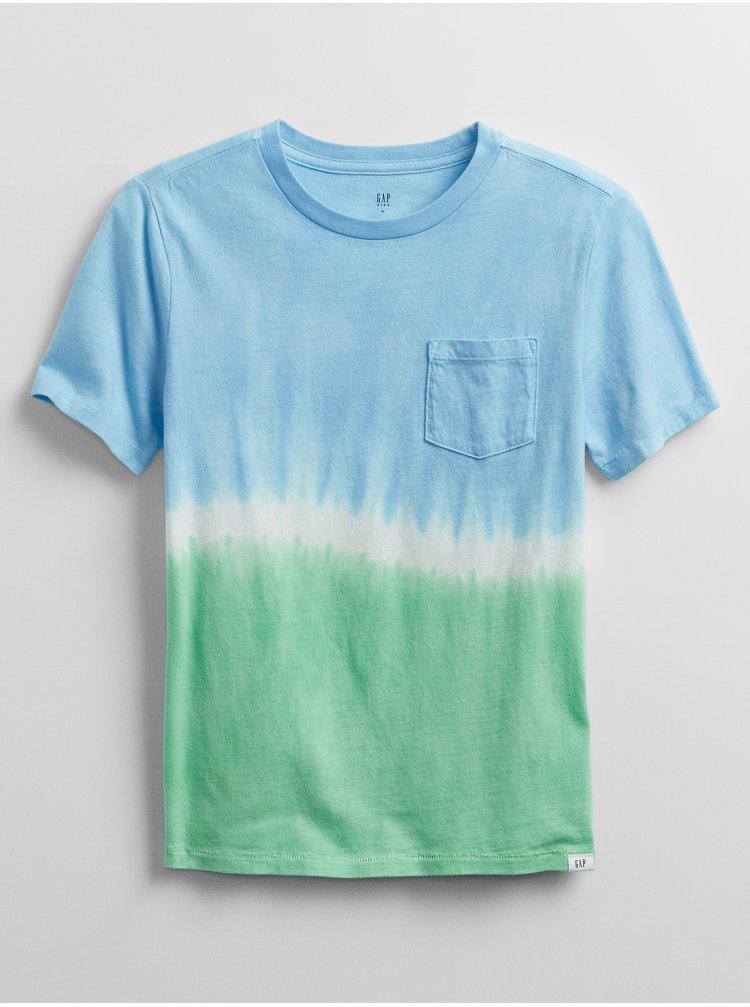 Barevné klučičí dětské tričko v-ss tie dye pkt crw