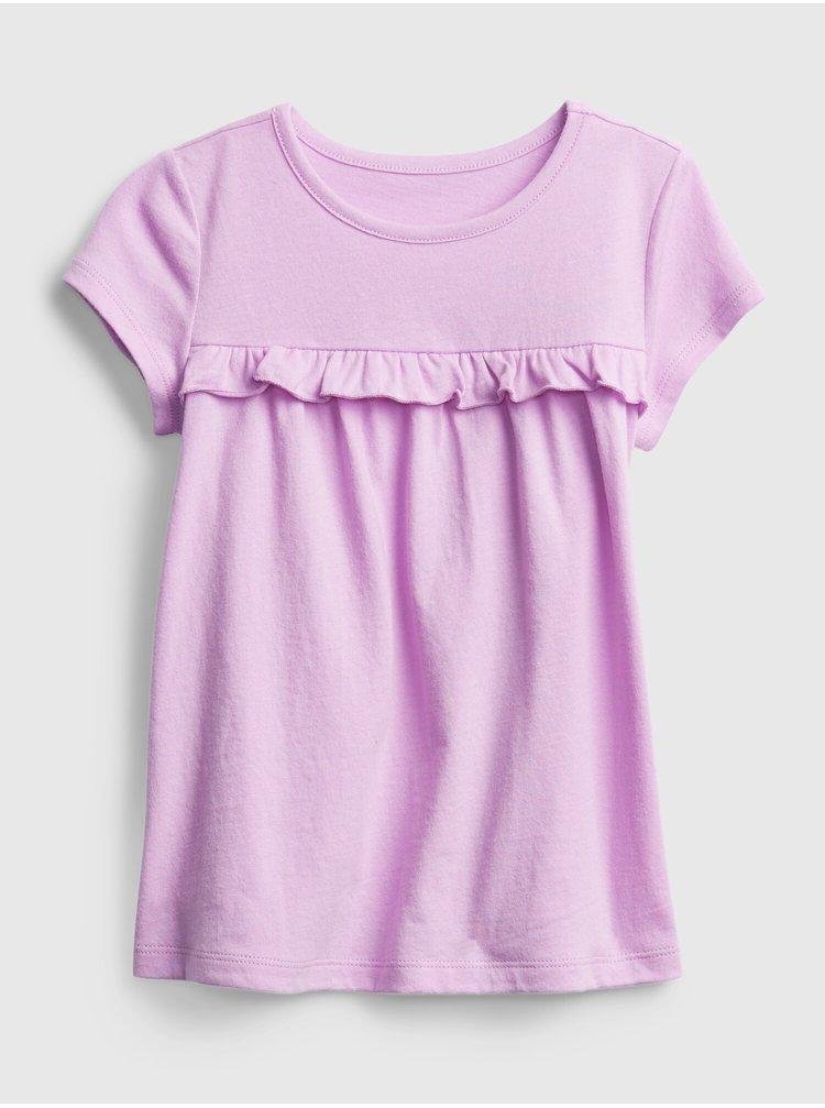Růžové holčičí dětské tričko ss ptf tunic