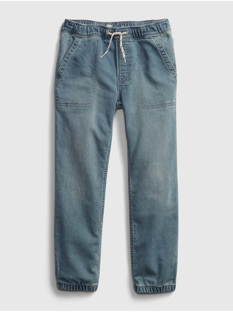 Modré klučičí dětské džíny jogger lt soft dn