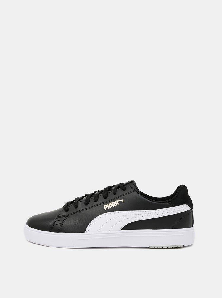 Černé pánské kožené tenisky Puma