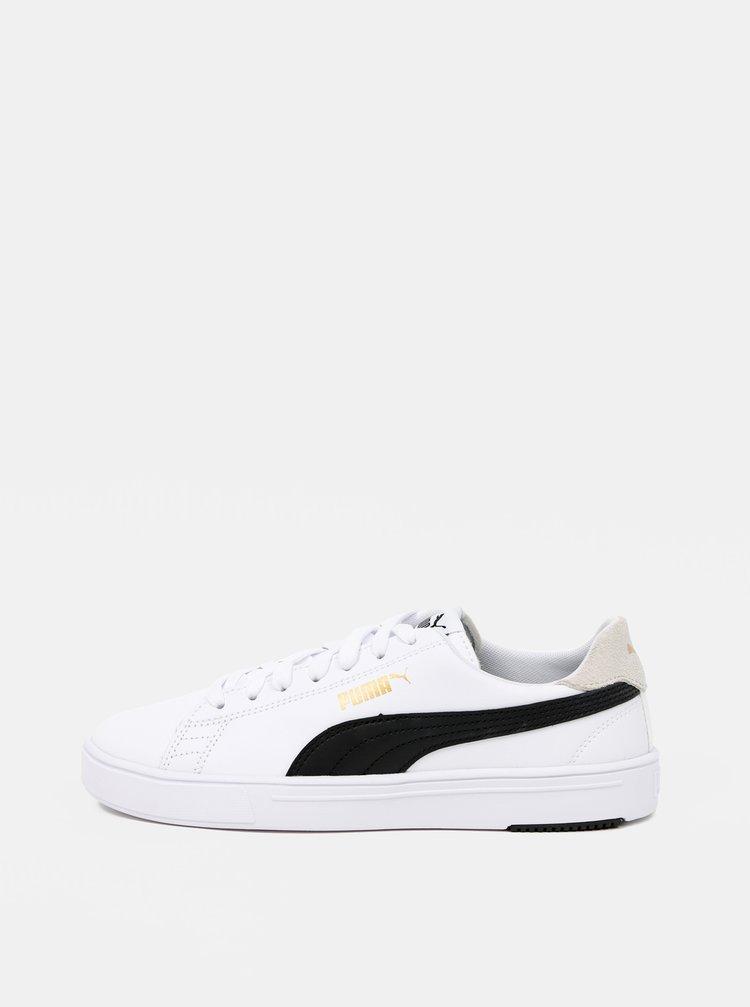 Bílé dámské kožené tenisky Puma