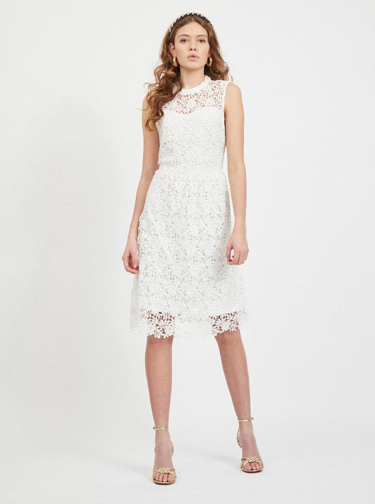 Bílé krajkové šaty VILA Manuela
