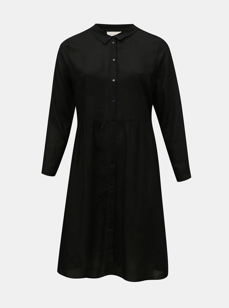 Černé košilové šaty ONLY CARMAKOMA