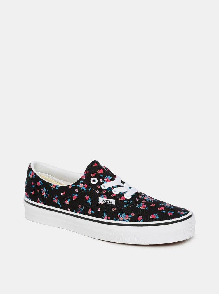 Čierne dámske kvetované tenisky VANS