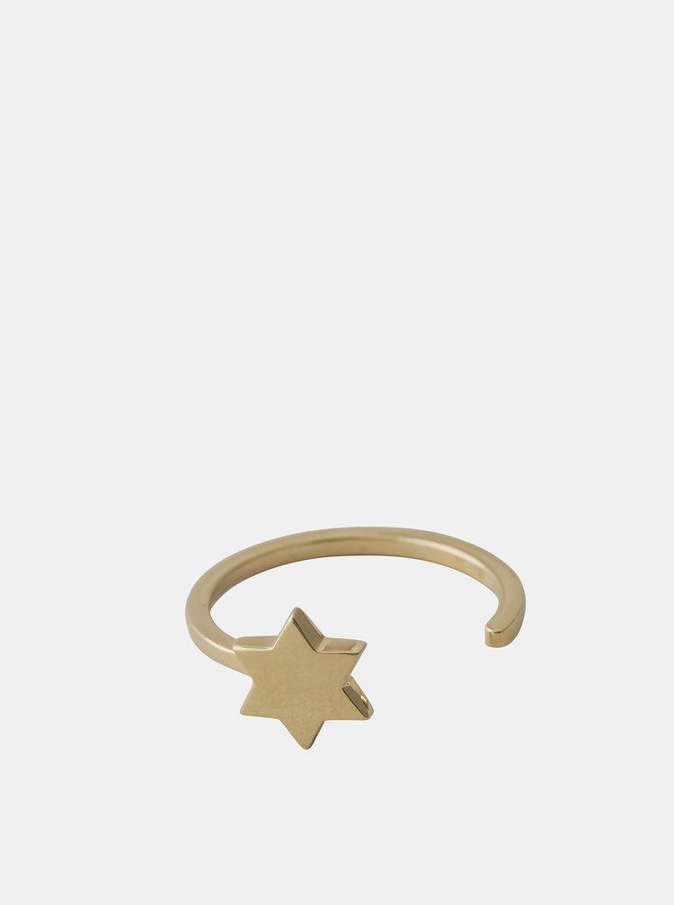 Prsten ve zlaté barvě Design Letters