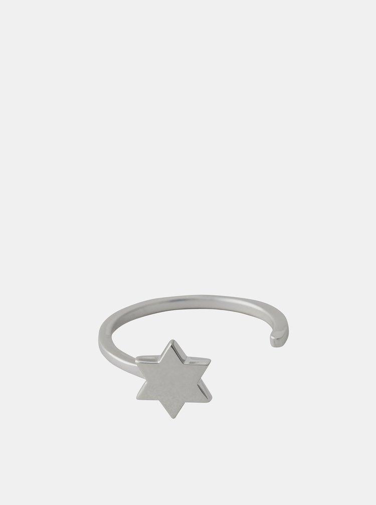 Prsten ve stříbrné barvě Design Letters