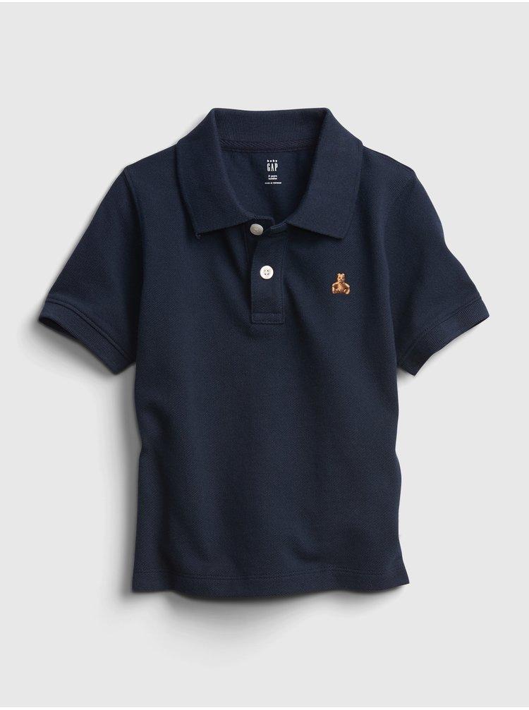 Tmavě modré klučičí tričko GAP pique polo