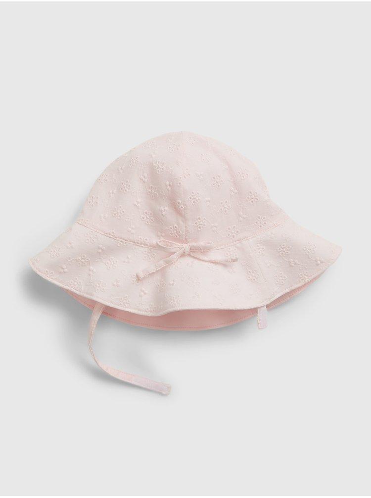 Růžová holčičí čepice GAP eyelet bucket hat