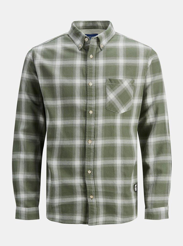 Zelená kostkovaná košile Jack & Jones Layton