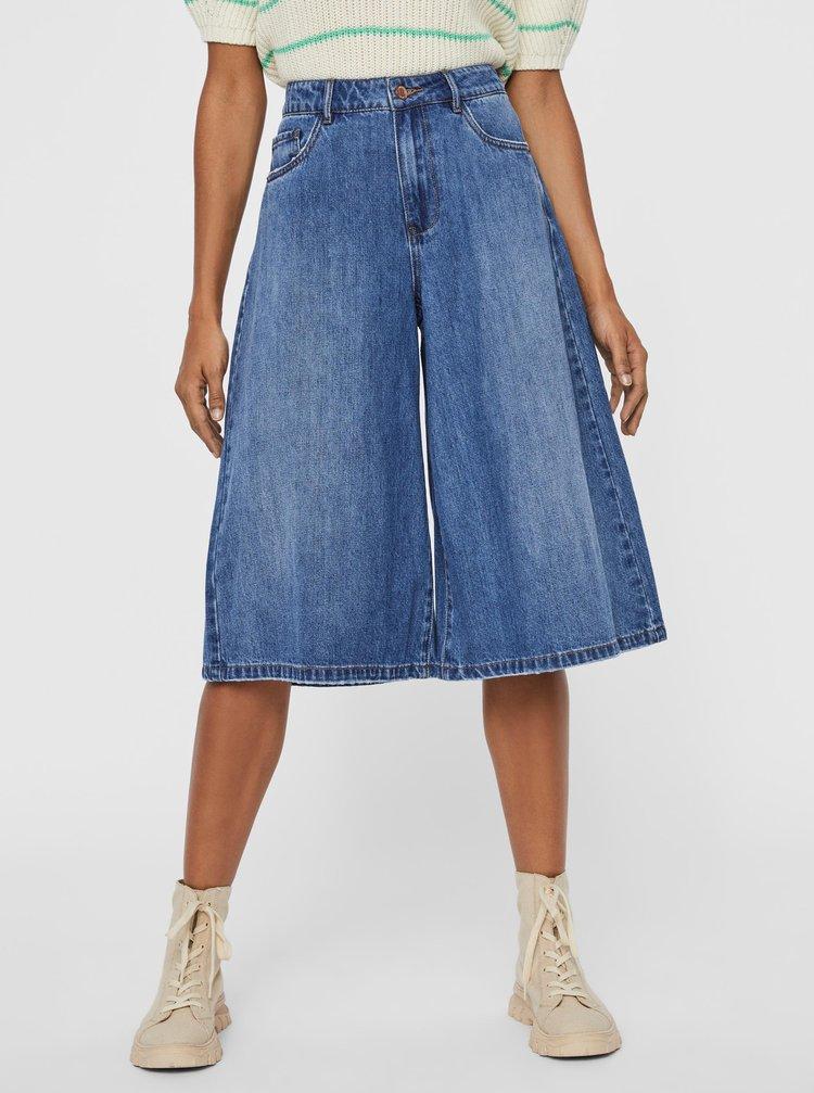 Modré džínové culottes VERO MODA Clemma