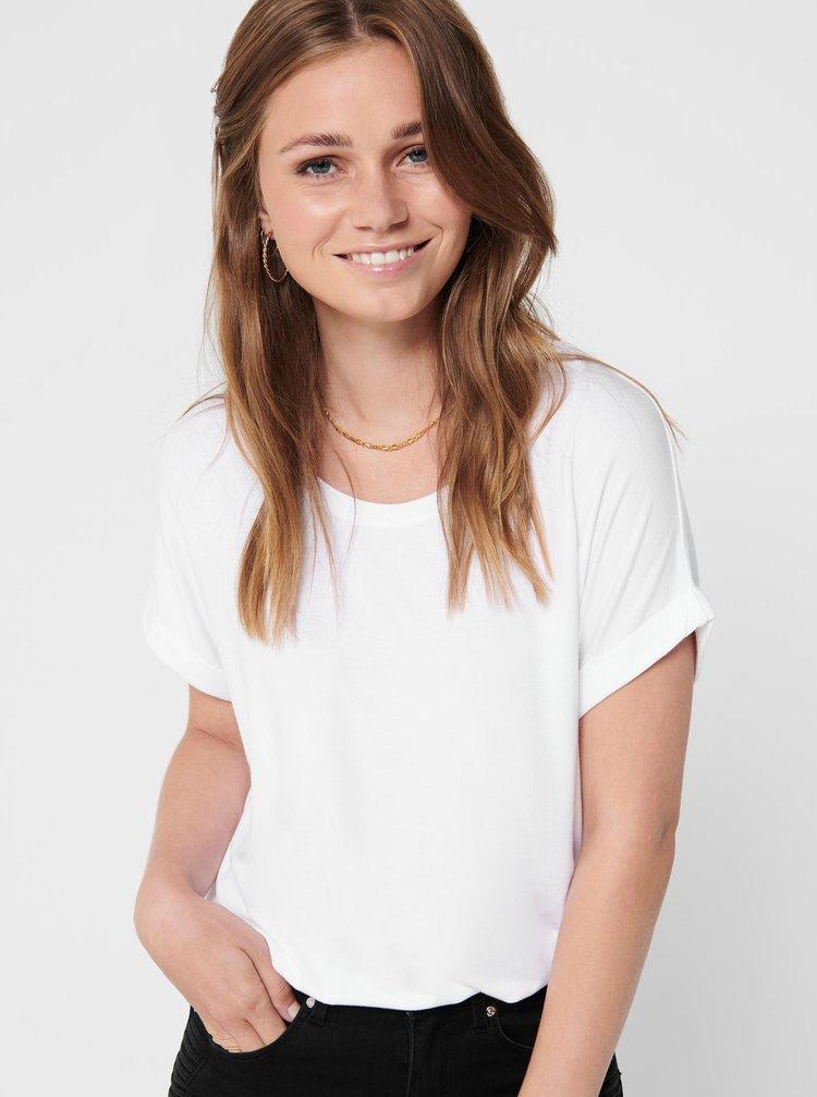Bílé basic tričko ONLY Moster