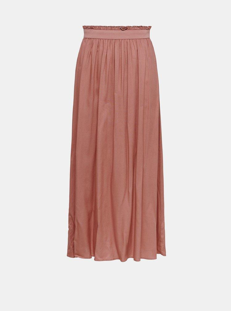 Starorůžová maxi sukně ONLY Venedig