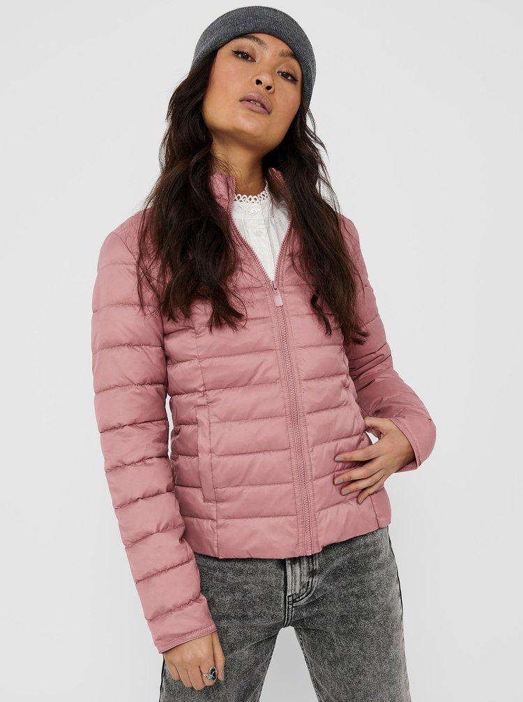 Růžová prošívaná bunda ONLY Tahoe
