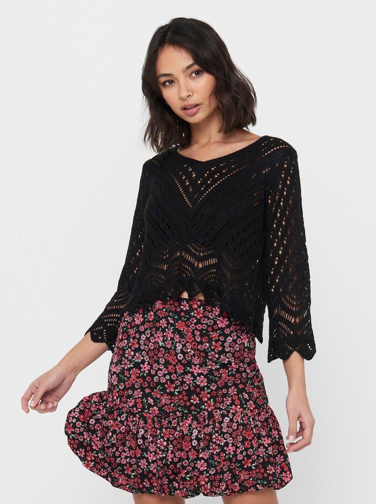 Čierny krátky sveter Jacqueline de Yong