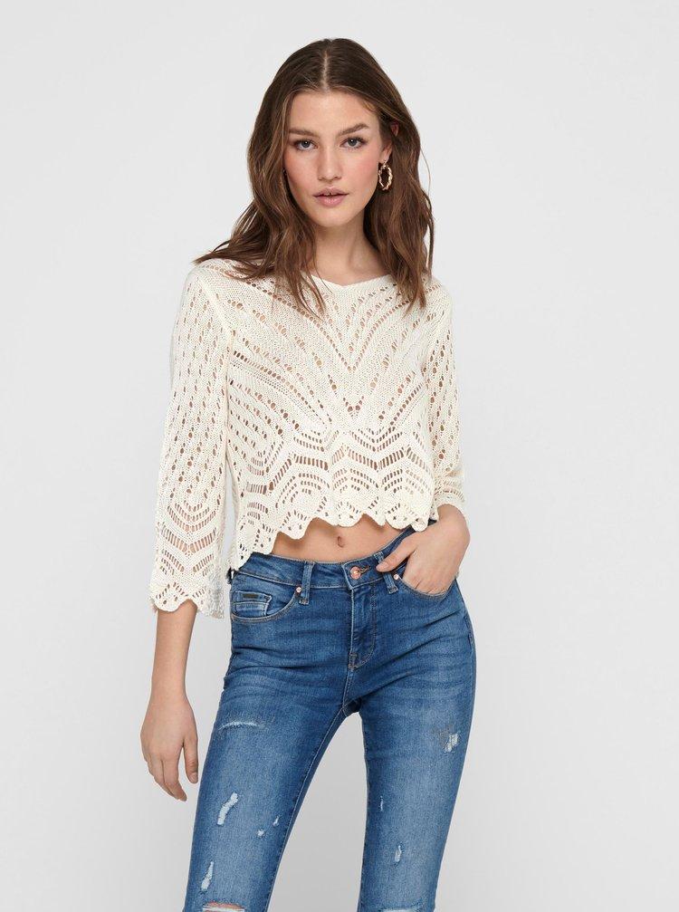 Krémový krátky sveter Jacqueline de Yong