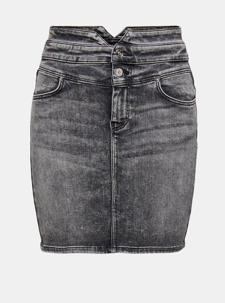 Šedá džínová pouzdrová sukně ONLY Vienna