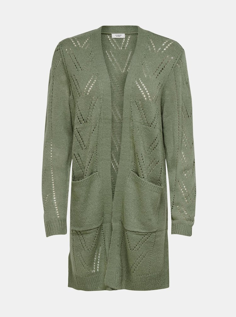 Zelený dlouhý kardigan Jacqueline de Yong Daisy