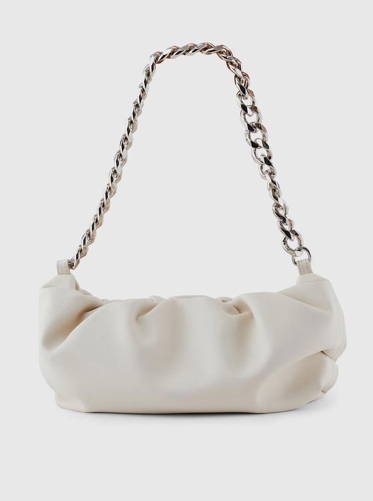 Bílá kabelka Pieces Fibra