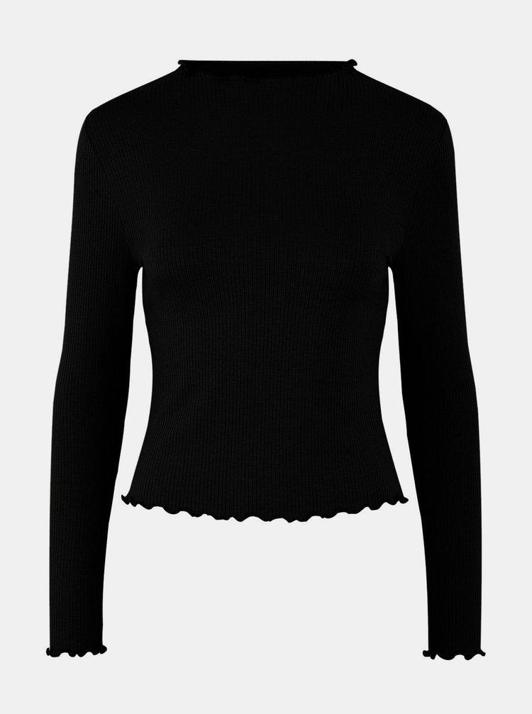 Černé tričko Pieces Tulle