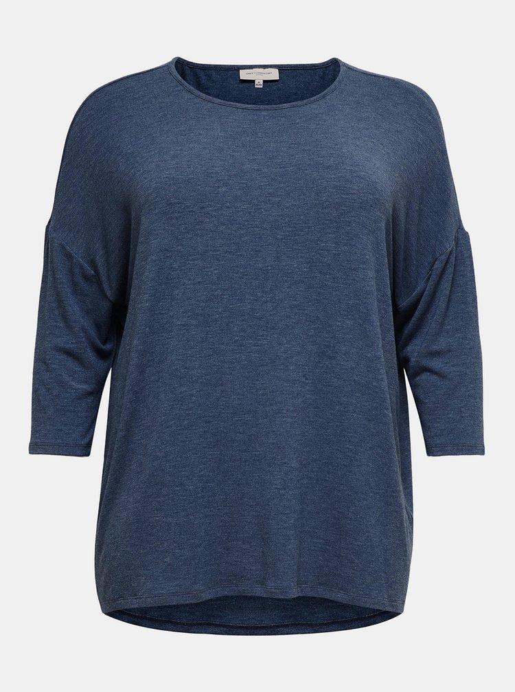 Modré tričko ONLY CARMAKOMA Lamour