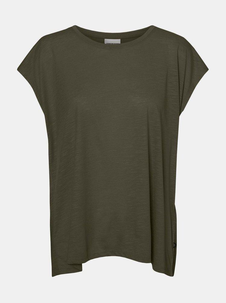 Khaki tričko Noisy May Mathilde