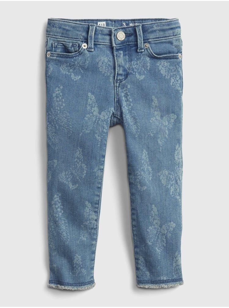 Modré holčičí skinny džíny GAP