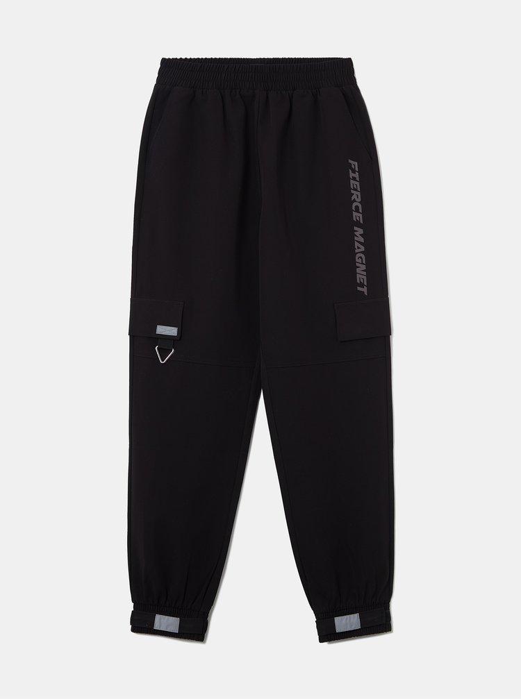 Černé zkrácené kalhoty s kapsami TALLY WEiJL