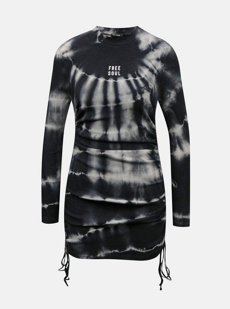Čierne vzorované púzdrové šaty TALLY WEiJL