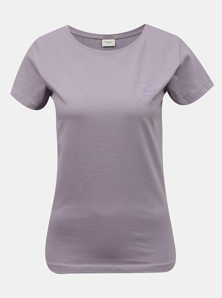Fialové tričko Jacqueline de Yong Chicago