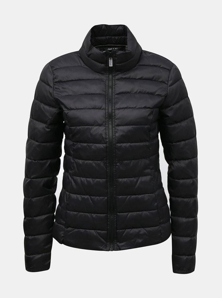 Čierna prešívaná bunda ONLY Tahoe