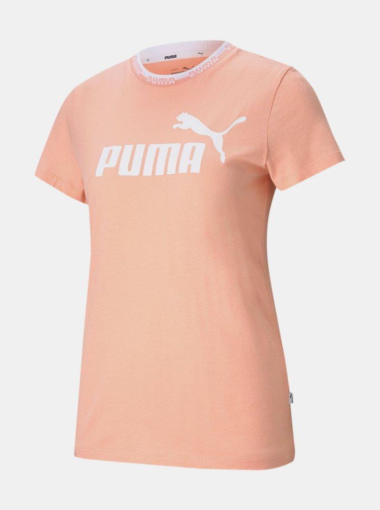 Oranžové dámské tričko s potiskem Puma