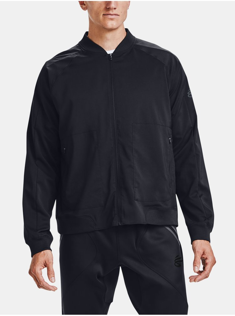 Bunda Under Armour UNDRTD WOVEN WARMUP JACKET - černá