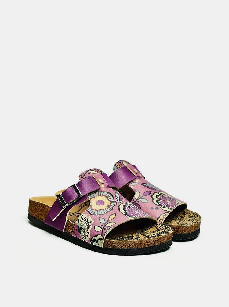 Calceo fialové šľapky Casual Slippers Purple
