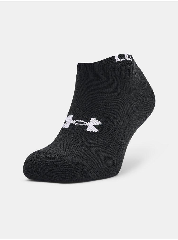 Ponožky Under Armour Core No Show 3Pk - černá