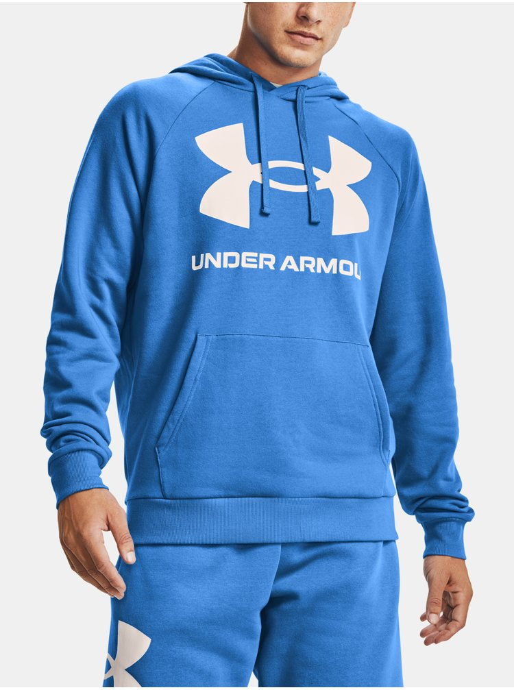 Mikina Under Armour Rival Fleece Big Logo HD - modrá