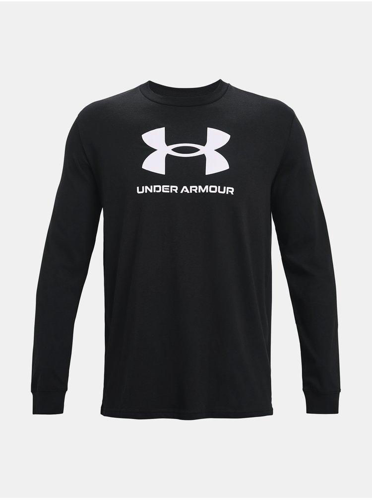 Tričko Under Armour SPORTSTYLE LOGO LS - černá