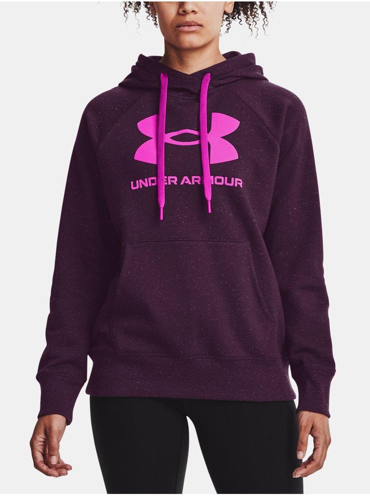 Mikina Under Armour Rival Fleece Logo Hoodie - fialová