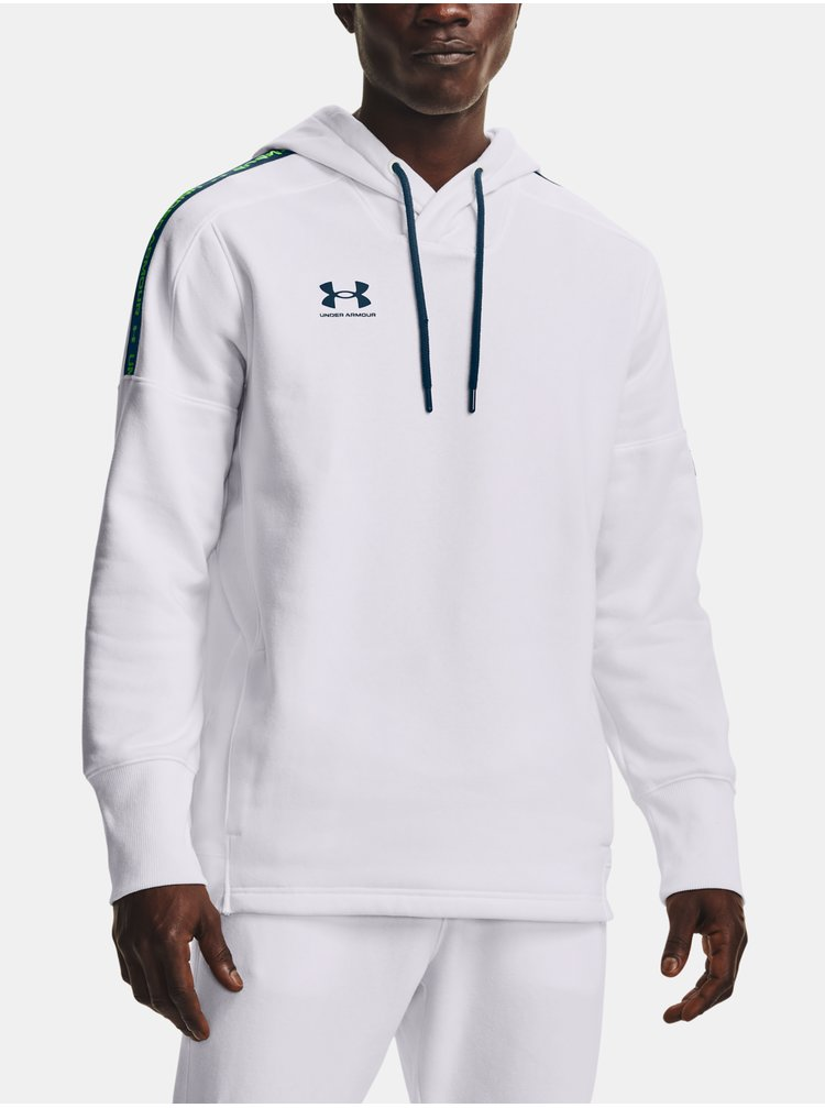 Mikina Under Armour Accelerate Off-Pitch Hoodie - bílá