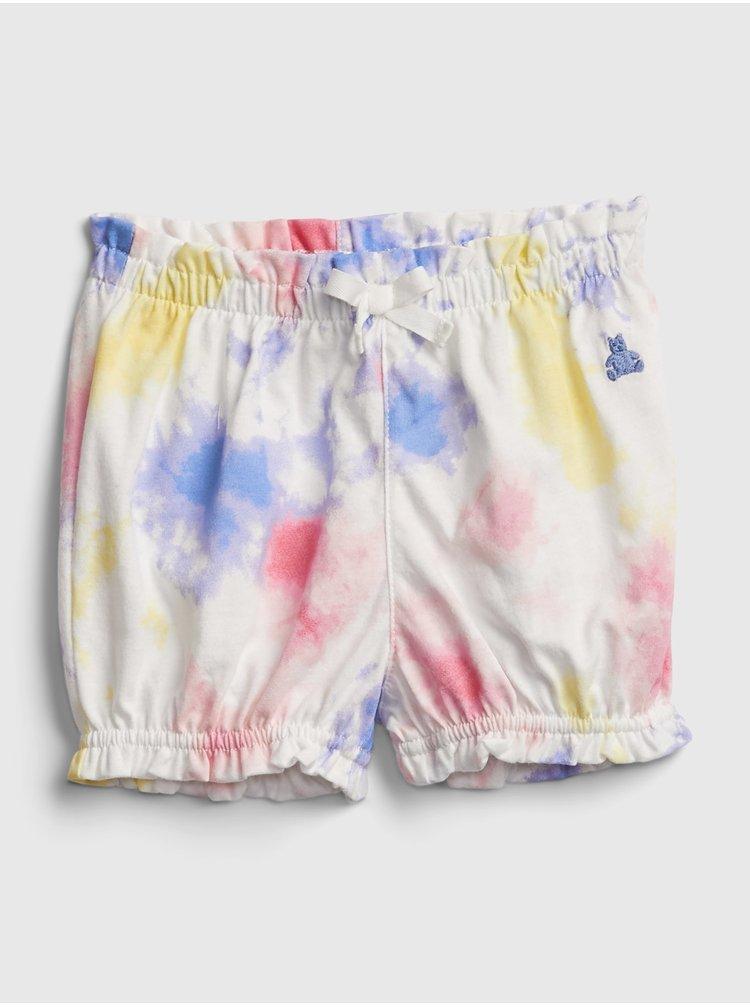Barevné holčičí baby kraťasy organic mix and match pull-on shorts