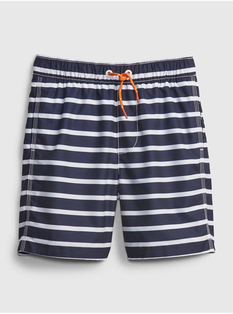 Modré klučičí dětské plavky breton 6 in trunk