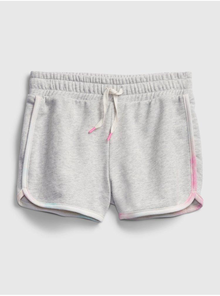 Šedé holčičí dětské kraťasy pull-on shorts