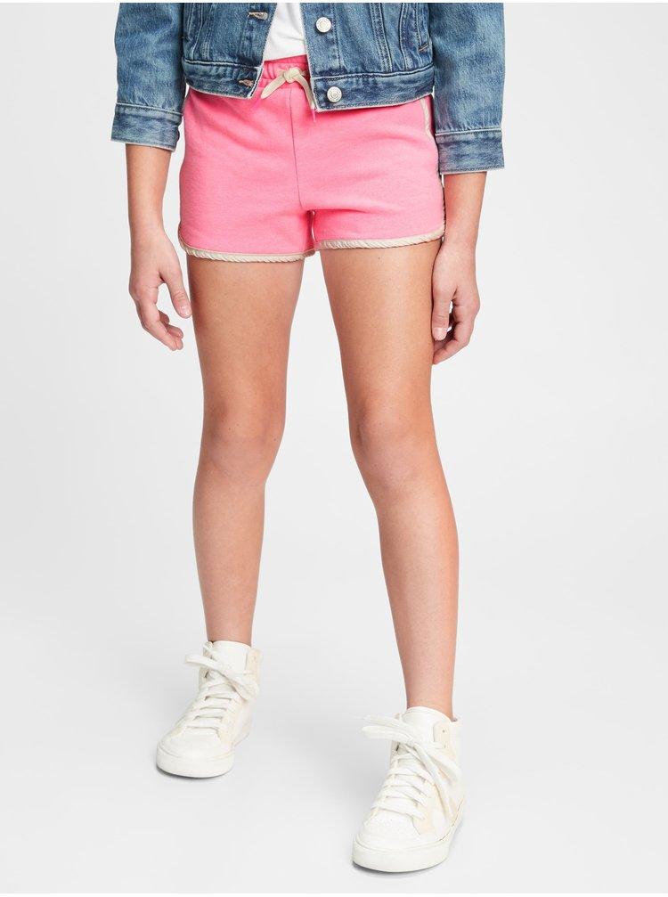 Růžové holčičí dětské kraťasy pull-on shorts