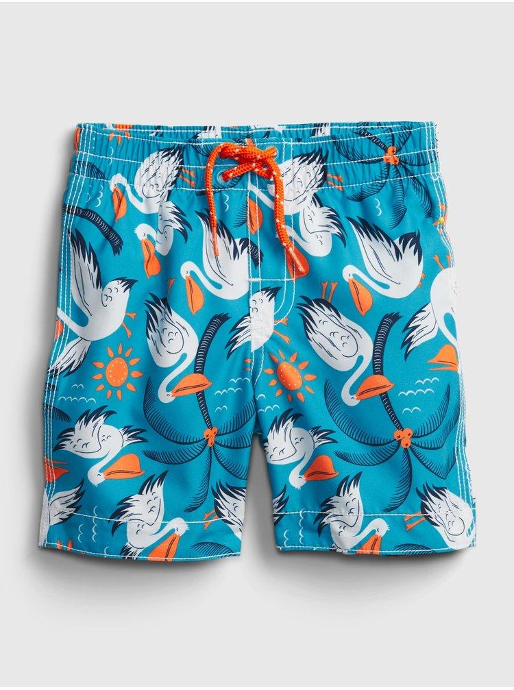 Modré klučičí dětské plavky recycled graphic swim trunks