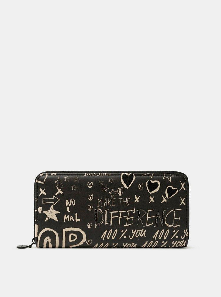 Desigual černá peněženka Mone Hansmade Fiona