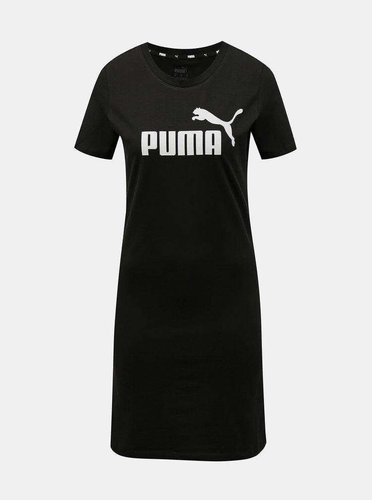 Čierne šaty s potlačou Puma