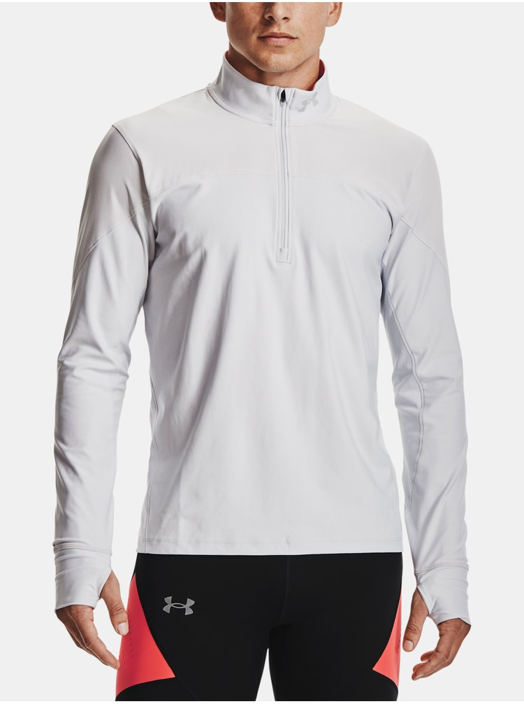 Tričko Under Armour QUALIFIER HALF ZIP - šedá