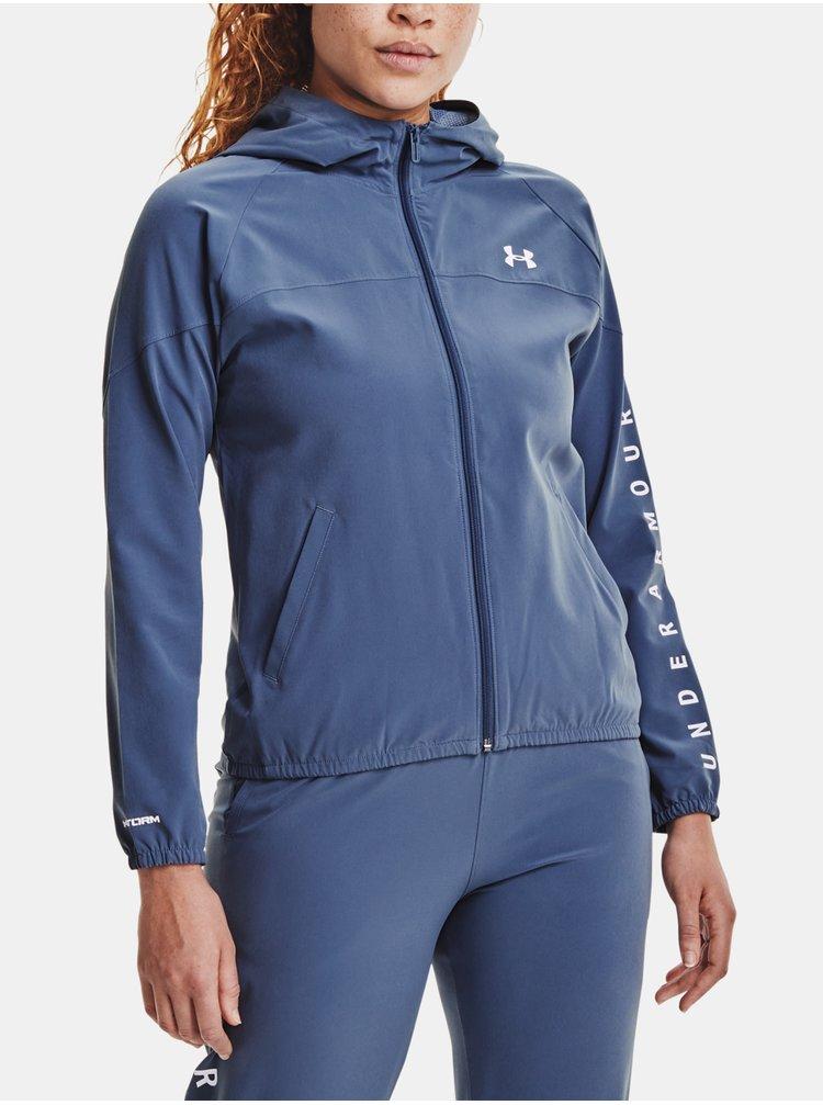 Bunda Under Armour Woven Hooded Jacket - modrá