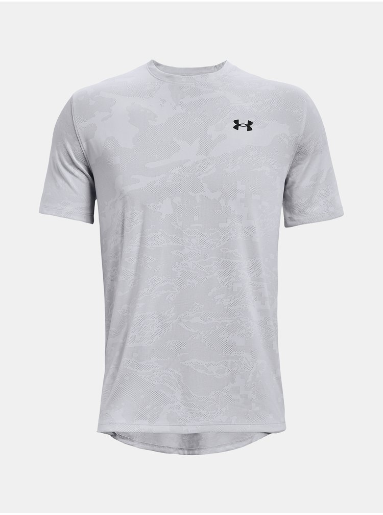 Tričko Under Armour Training Vent Camo SS - šedá