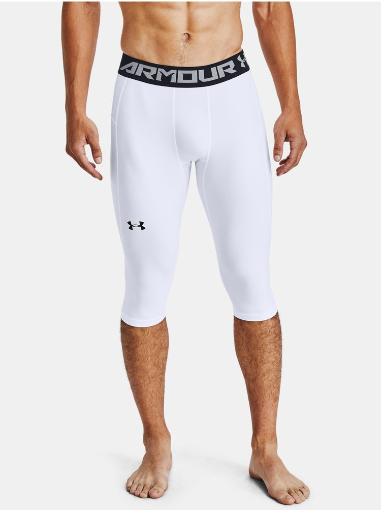 Legíny Under Armour BASELINE COMPR KNEE TIGHT - bílá